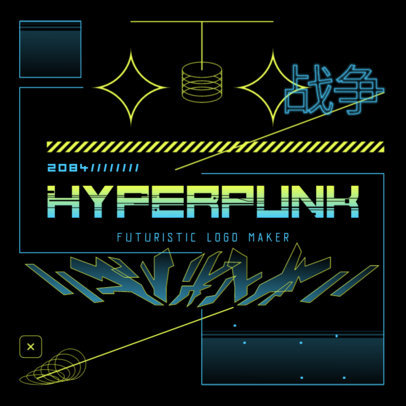 Gaming Logo Maker with Cyberpunk-Inspired Background Graphics 4073