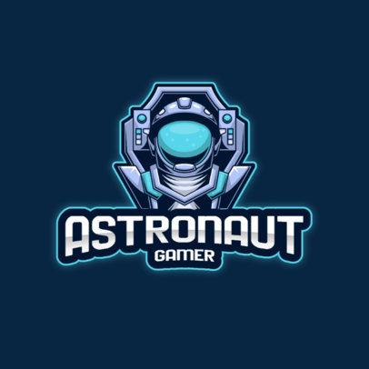 Gamer Logo Maker Featuring a Futuristic Astronaut Graphic 3498c-el1