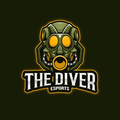 Gaming Logo Generator Featuring a Submarine Robot 3498d-el1