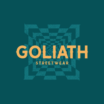 Streetwear Logo Generator Featuring a Mesmerizing Pattern 4081h