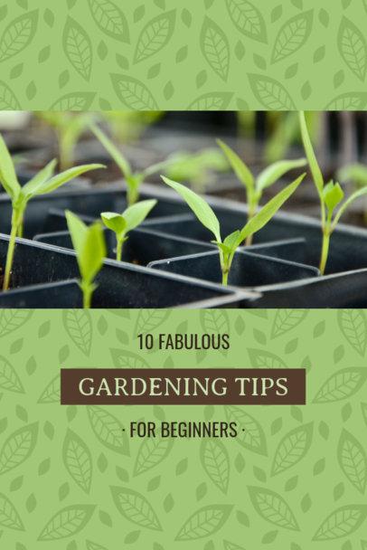 Pinterest Pin Post Maker for Gardening Tips 624c