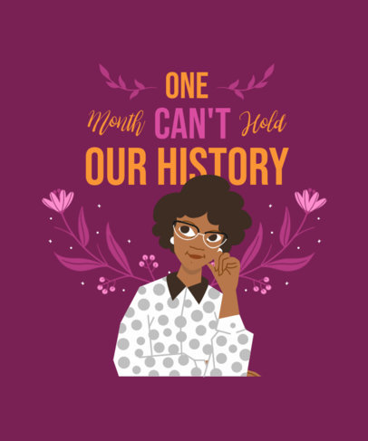 T-Shirt Design Maker with a Black History Month-Themed Illustration 3410a