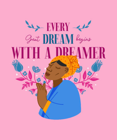 Illustrated T-Shirt Design Maker to Celebrate Black History Month 3410d