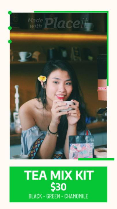 Instagram Story Video Generator for a Tea Shop 433b 2831