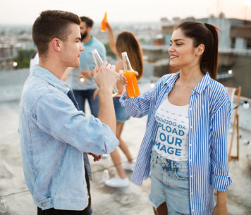 Tank Top Mockup of a Woman Having a Drink With a Friend 41488-r-el2