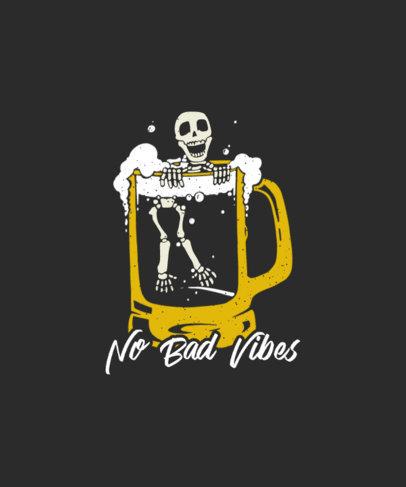 T-Shirt Design Generator Featuring a Skeleton Inside a Beer Jar 3559b-el1