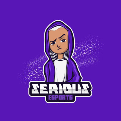 Logo Maker for a Gaming Squad Featuring a Character in a Hoodie 3496d-el1