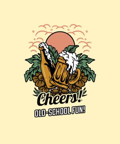 Summer-Themed T-Shirt Design Maker with a Beer Illustration 3535a-el1