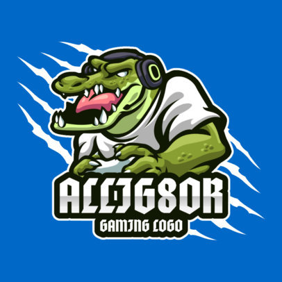 Gaming Logo Maker with an Anthropomorphic Alligator 3492a-el1