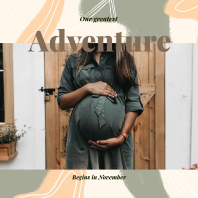 Facebook Post Creator for an Online Pregnancy Reveal 3396e