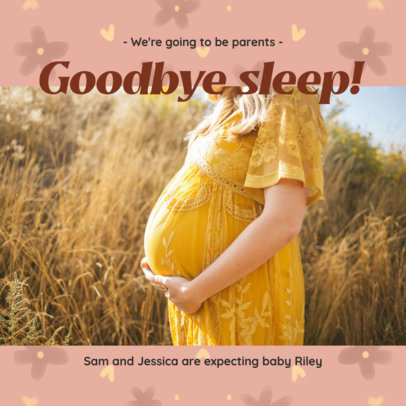 Facebook Post Generator for Future Parents Revealing a Pregnancy 3396f