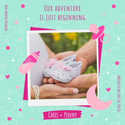 Instagram Post Creator to Announce a Soon-To-Be-Born Baby  3404e