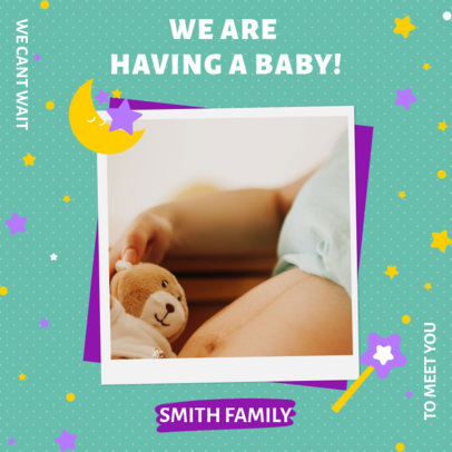 Instagram Post Creator for a Pregnancy Reveal Announcement 3404b