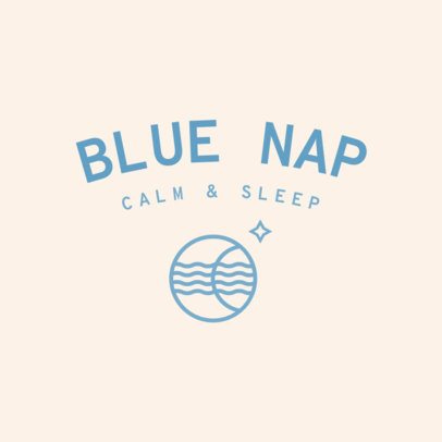Logo Generator for Sleep Products Brands Featuring a Relaxing Color Scheme 4084h