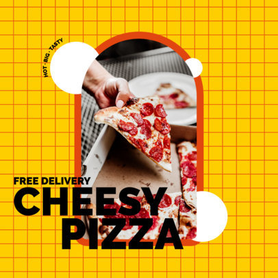 Instagram Post Creator Promoting a Pizza Delivery Service 3544d-el1
