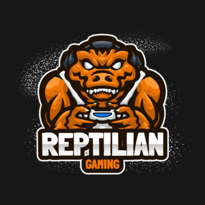 Fierce Logo Creator Featuring a Reptilian Gamer Character 3492b-el1