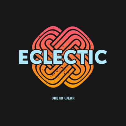Urban Apparel Brand Logo Maker with an Abstract Shape 4080E
