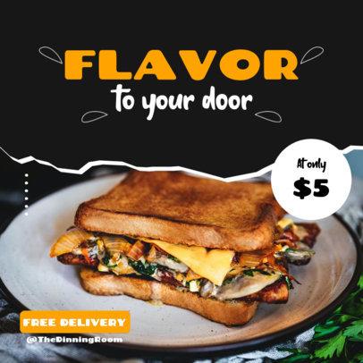Instagram Post Design Generator for Food Delivery Promos 3542d-el1