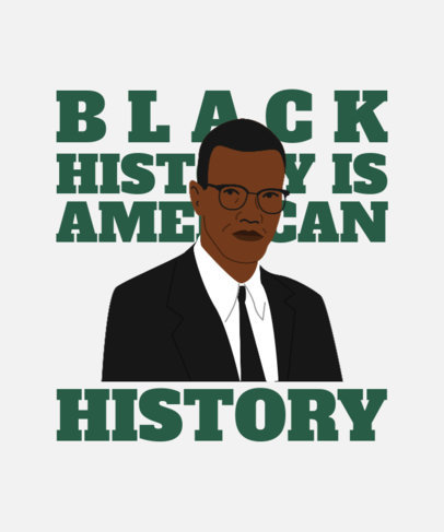 Illustrated T-Shirt Design Maker Featuring a Quote to Commemorate Black History Month 3409g