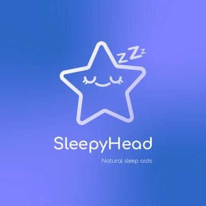 Logo Maker for a Sleep Aid Featuring a Star Icon 4083b