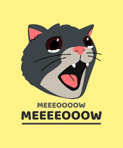 Illustrated T-Shirt Design Maker Featuring a Cat Meme 3407e