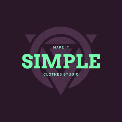 Clothing Studio Logo Generator Featuring an Abstract Graphic with a Distressed Style 4079c