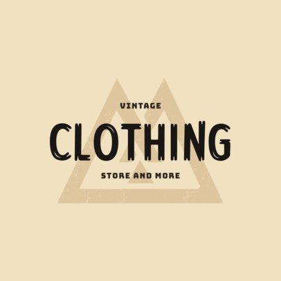 Vintage Clothing Brand Logo Maker Featuring a Distressed-Texture Graphic 4079d