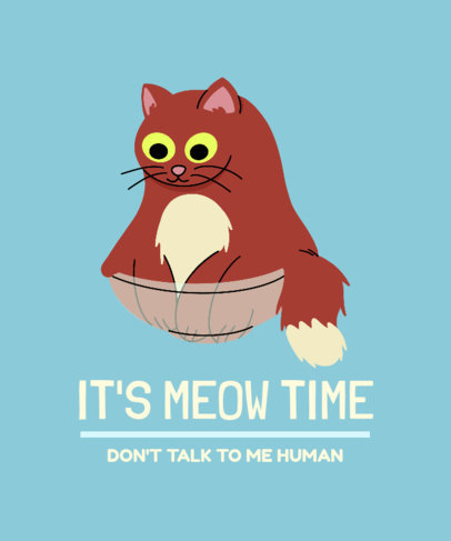 Cat-Themed T-Shirt Design Creator with an Illustration and a Quote 3407f