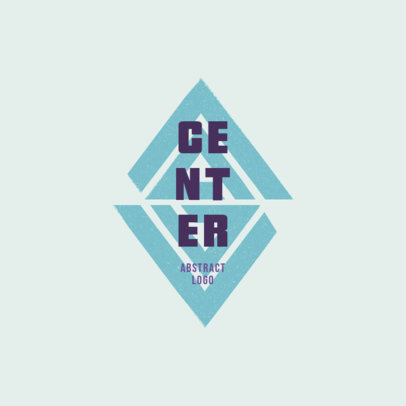 Geometric Logo Template for Clothing Brands Featuring an Abstract Graphic 4082g