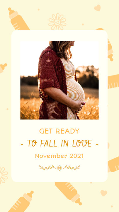Instagram Story Design Creator for a Pregnancy Announcement with Pictures 3399c