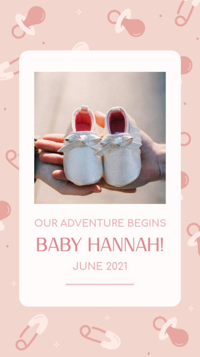 Pregnancy-Themed Instagram Story Design Maker with a Cute Background 3399e