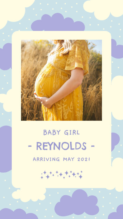 Pregnancy-Themed Instagram Story Design Maker with Pictures  3399b