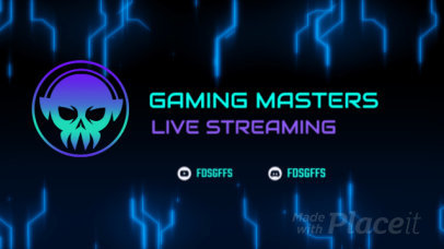 Twitch Starting Soon Screen Video Maker with Glitchy Animations 2634