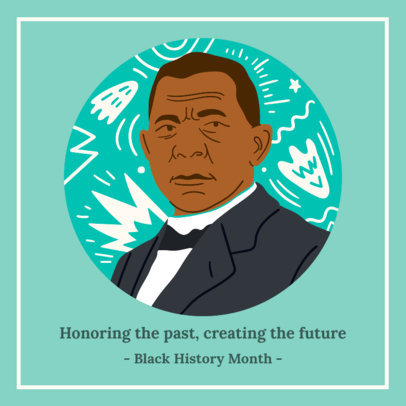 Facebook Post Maker With a Beautiful Quote for Black History Month 3412h