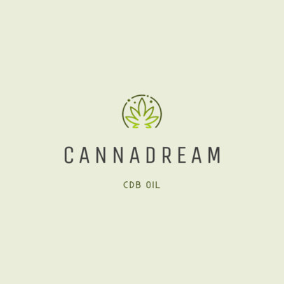 Logo Generator for CBD Oil Products with a Cannabis Leaf Icon 4085c