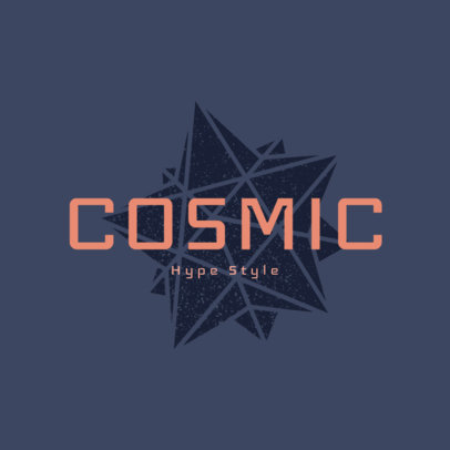 Clothing Brand Logo Maker Featuring a Modern Font and a Star Graphic 4081n