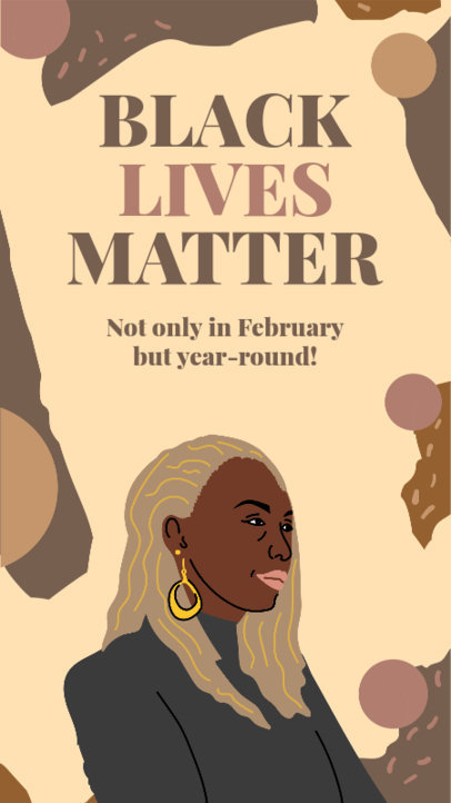 Illustrated Instagram Story Maker with a Black Lives Matter Quote 3413e