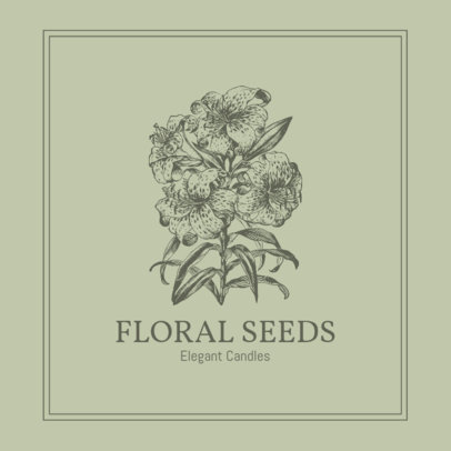Logo Creator for an Elegant Candles Store Featuring a Botanical Graphic 3591c-el1