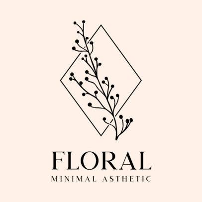 Logo Maker Featuring a Minimalist Floral Graphic 3589-el1