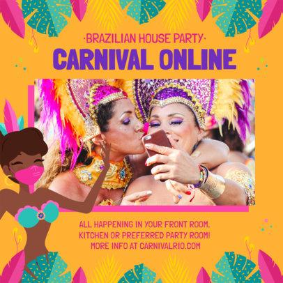 Instagram Post Creator for a Virtual Brazilian Carnival Gathering 3432a