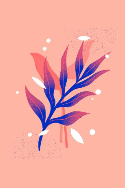 Art Print Maker Featuring a Minimalist Floral Design 3424