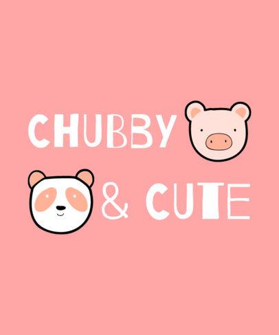 Cute T-Shirt Design Creator for Kids Featuring a Panda and a Pig 3575e-el1