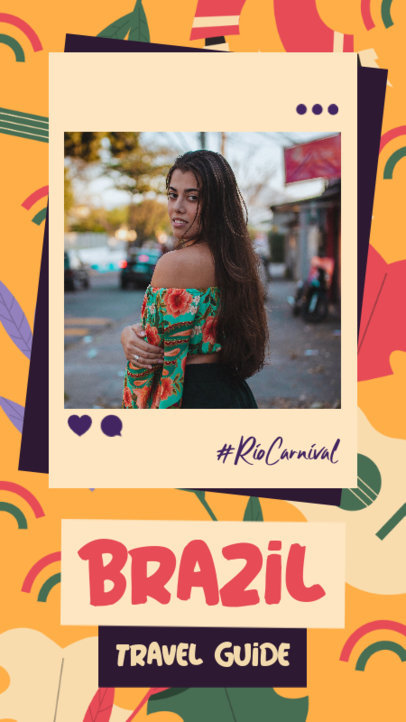 Colorful Instagram Story Template for a Brazil Travel Guide 3430d