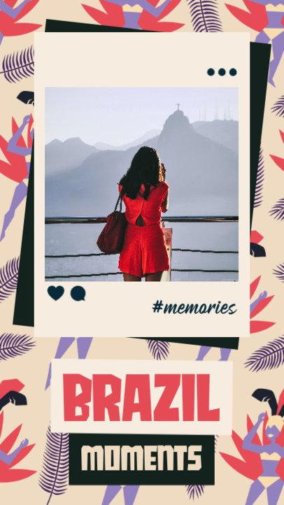 Instagram Story Design Maker to Share Memories from Brazil 3430i