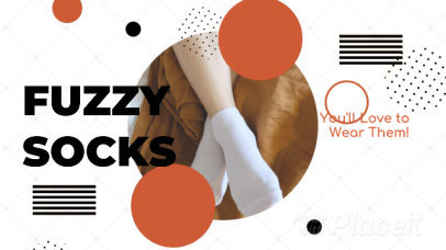 Facebook Cover Video Template for a Cozy Socks Brand Ad 1220c 2888