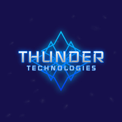 Thunder-Themed Gaming Logo Maker with an Abstract Graphic 4100c