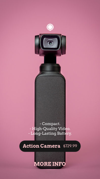 Instagram Story Design Template Featuring a Photo of a Tech Gadget 3565e-el1