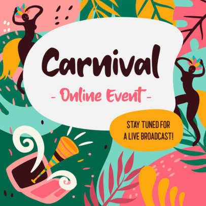 Facebook Post Creator to Announce an Online Carnival Event 3427b