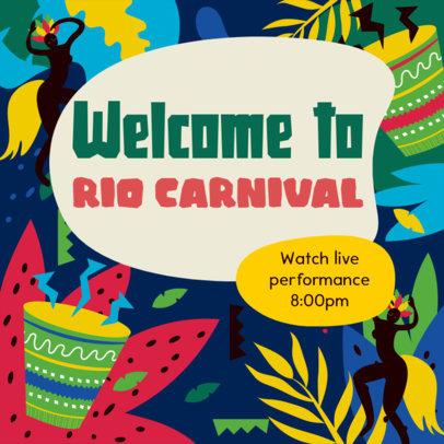 Facebook Post Generator with an Invitation to Brazilian Carnival 3427e