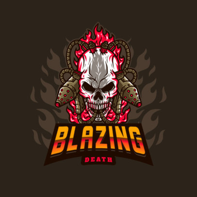 Skull-Themed Logo Maker Featuring a Graphic with Flamethrowers 4095g